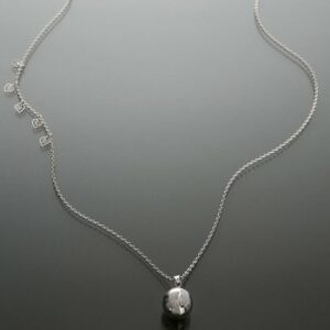 Bola argintiu picioruse placate cu pudra de diamant