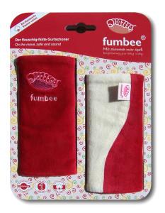 Manduca Fumbee Rosu/Crem (Rubin) – protectie pentru bretele din bumbac organic