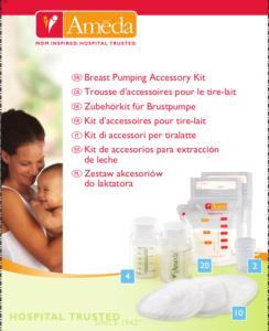 Kit de accesorii pentru alăptare Ameda
