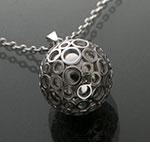 Bola argintiu cu bule argintii (lanț argint)