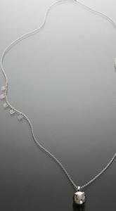 Bola argintiu cu stelute suflate cu aur - complet