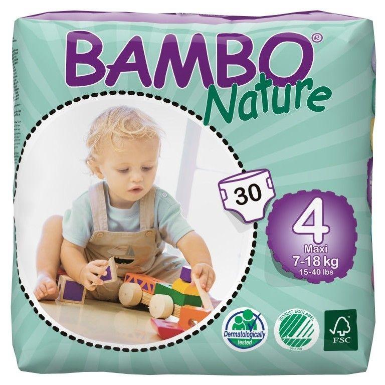 Scutece ecologice de unică folosință Bambo Nature Maxi (Nr.4) - Pachet mic