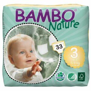 Scutece ecologice - Bambo Nature Midi (Nr.3) - Pachet mic