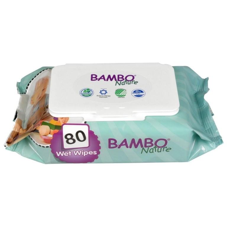 Șervețele umede ecologice pentru copii - Bambo Nature
