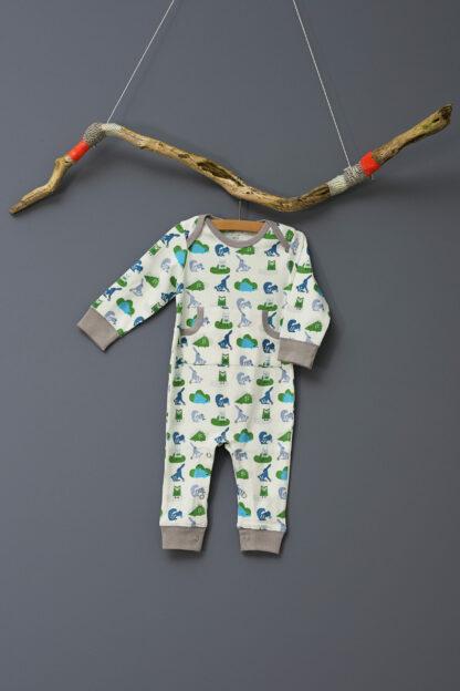 Pijamale până la gleznă din bumbac organic Fresk - Ekhorn blue