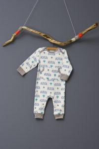 Pijamale până la gleznă din bumbac organic Fresk - Elefant blue