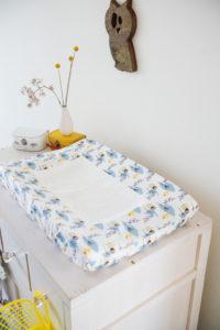 Protecție pentru masa de înfășat, din bumbac organic – Fresk
