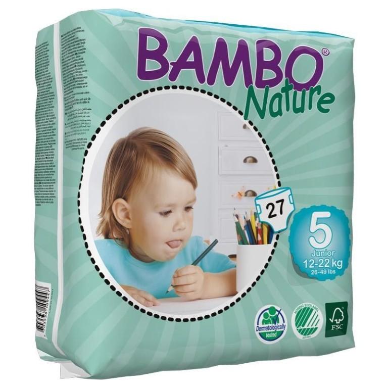 Scutece ecologice Bambo Nature Junior (Nr.5) - Pachet mic