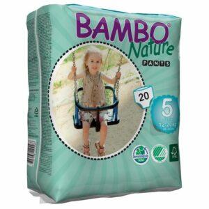 Scutece ecologice chiloței Bambo Nature Junior Pants (Nr.5) - 20 buc