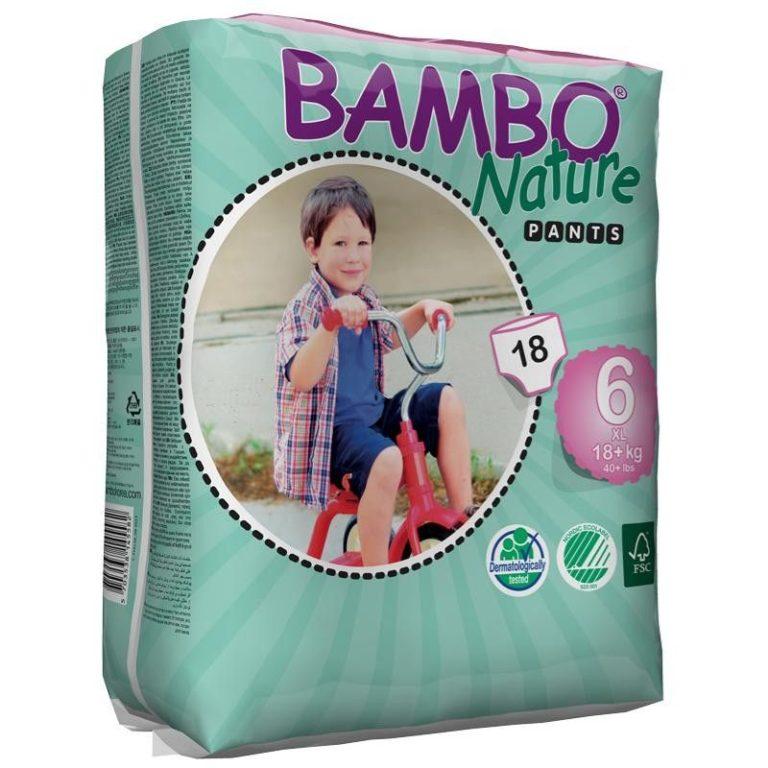 Scutece ecologice chiloței - Bambo Nature XL Pants (Nr.6) - 18 buc