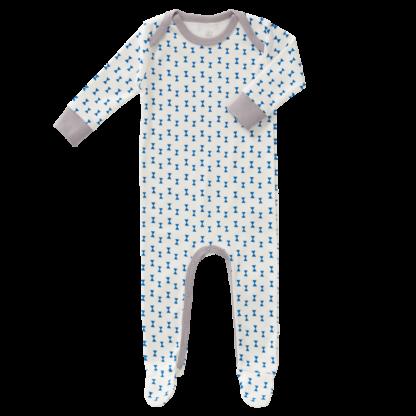 Pijamale cu talpă, din bumbac organic Fresk - Fest Kobalt