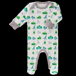 Pijamale cu talpă, din bumbac organic Fresk - Ekhorn blue
