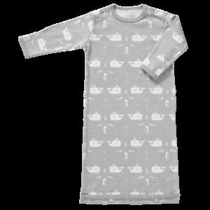 Sac de dormit cu mânecă lungă din bumbac organic Fresk - Whale down grey