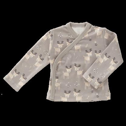 Bluză cu capse din bumbac organic Fresk - Deer ash grey