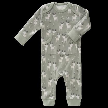 Pijamale până la gleznă din bumbac organic Fresk - Deer forest green