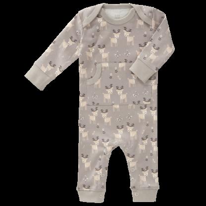 Pijamale până la gleznă din bumbac organic Fresk - Deer ash grey