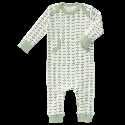 Pijamale până la gleznă din bumbac organic Fresk - Leaves mint
