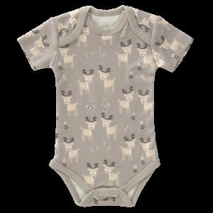 Body cu mânecă scurtă din bumbac organic Fresk - Deer ash grey