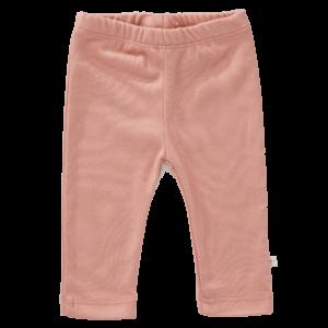 Pantaloni uni din bumbac organic Fresk - Mellow rose