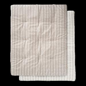 Pătură groasă din bumbac organic Fresk - Leaves grey