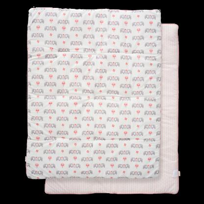 Pătură groasă din bumbac organic Fresk - Elefant pink