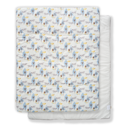 Pătură groasă din bumbac organic Fresk - Fox blue