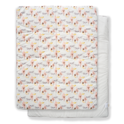 Pătură groasă din bumbac organic Fresk - Fox pink