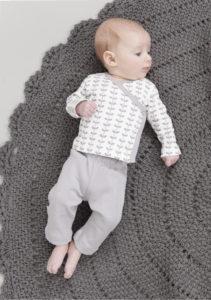 Pantaloni pentru bebeluși UniGrey și bluză cu capse - Fresk