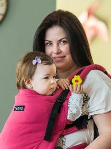 Conversie wrap țesut - ISARA Rasberry toddler