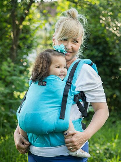 Conversie wrap țesut - ISARA Turquoise toddler
