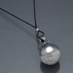 Bola gri pudră de diamant (șnur negru)