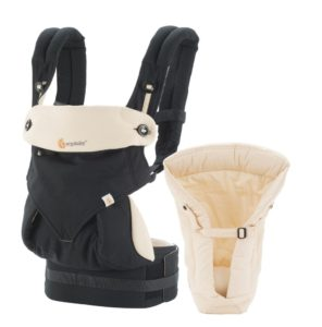 Marsupiu Ergobaby 360 - cu suport inclus Black Camel