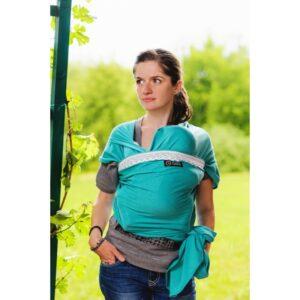 Wrap elastic cu dantelă tradițională - Isara Verde