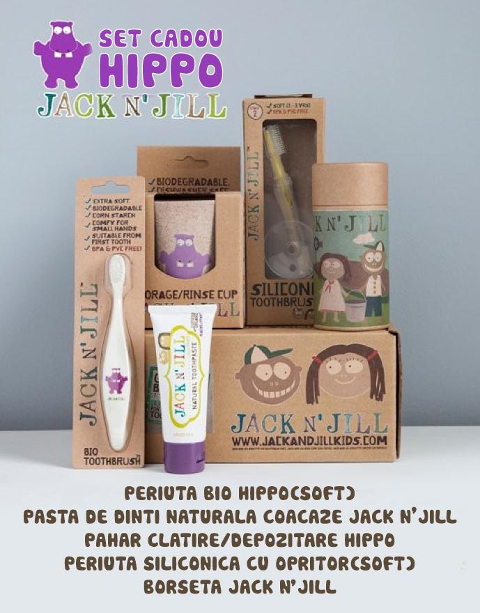 Set cadou de igienă orală - Hippo - Jack N'Jill