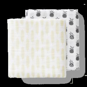 Set păturici de muselină pentru înfășat bebe Fresk - Pineapple Anthracite