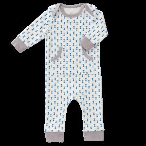 Pijamale până la gleznă, din bumbac organic Fresk - Fest Kobalt