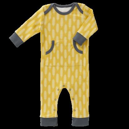 Pijamale până la gleznă, din bumbac organic Fresk - Havre Mustard
