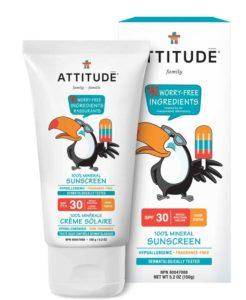 Cremă protecție solară fără miros Attitude - 150g