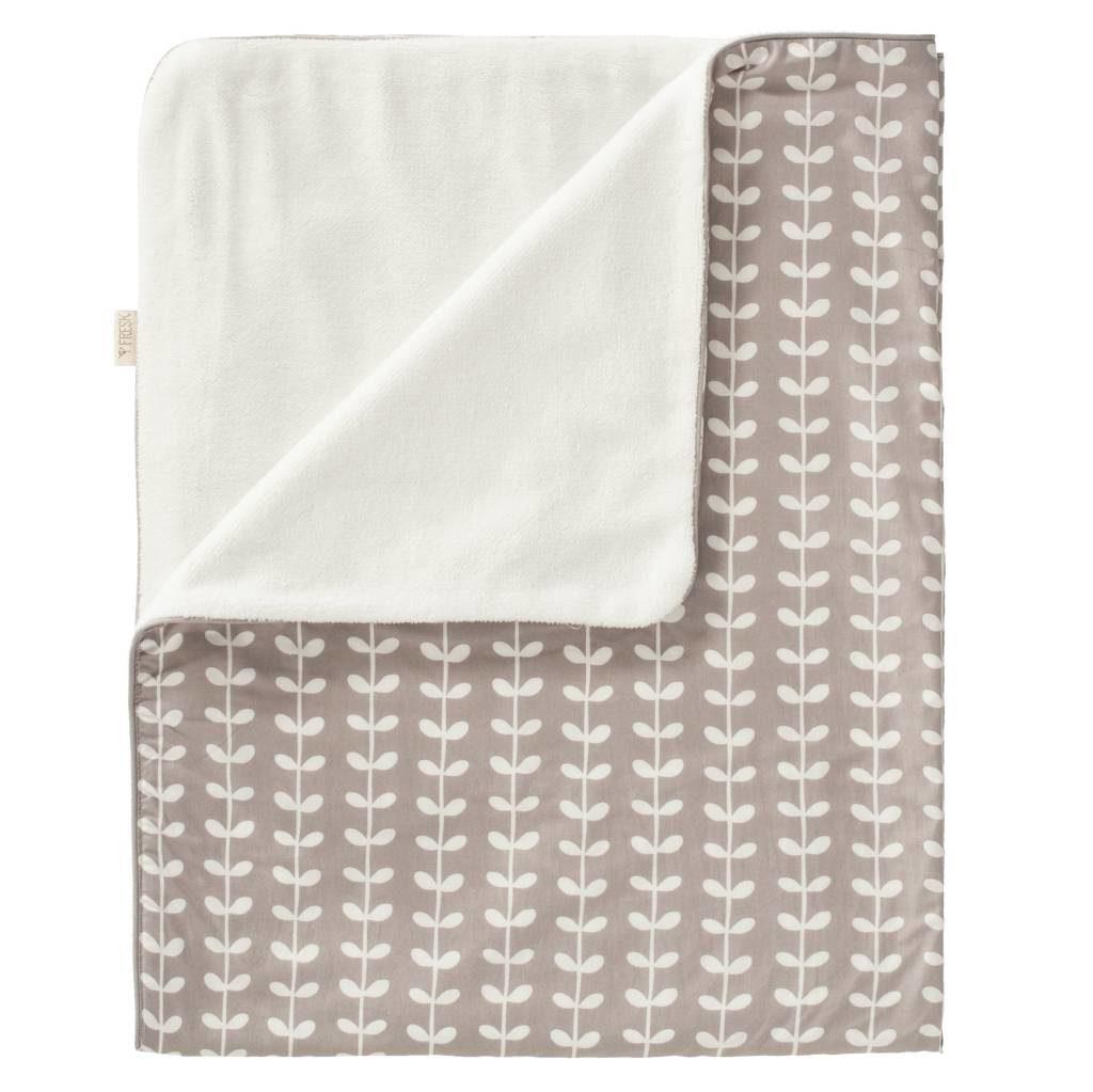 Păturică căptușită Fresk - Leaves grey