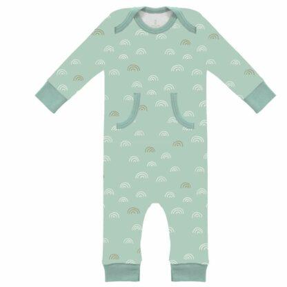 Pijamale fără talpă, din bumbac organic Fresk - Rainbow blue