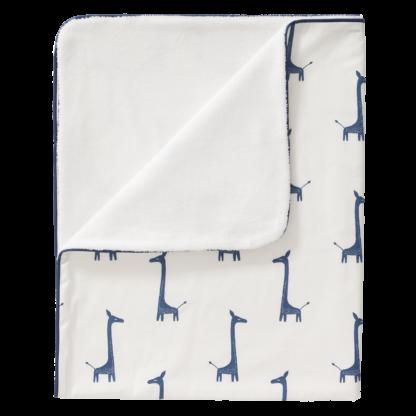 Păturică căptușită Fresk - Giraf indigo blue