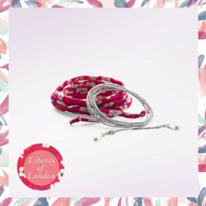 Accesoriu Bola - Set șnur Fantasy Red Flower and Silver Lurex