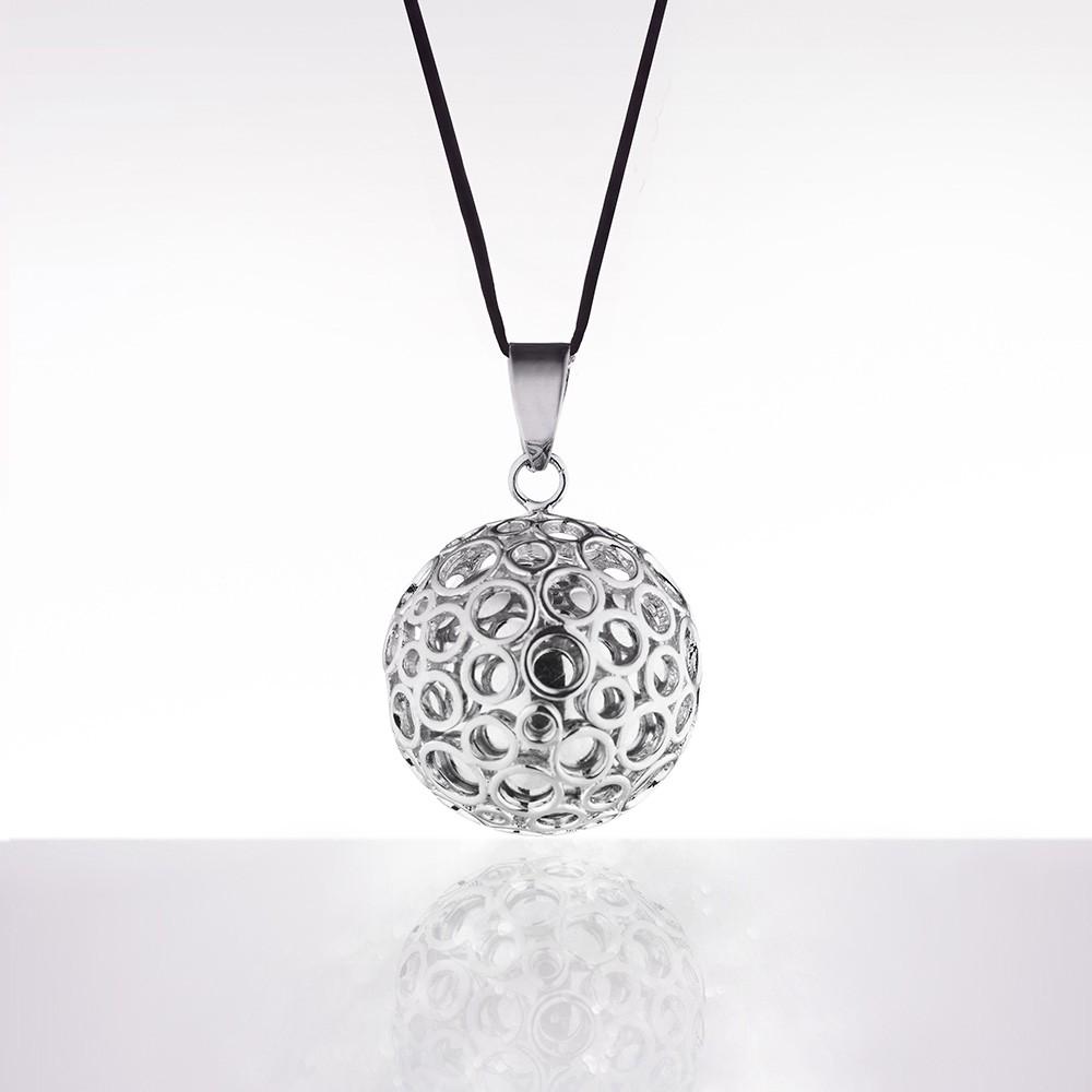 Bola argintiu bule argintii (șnur negru)