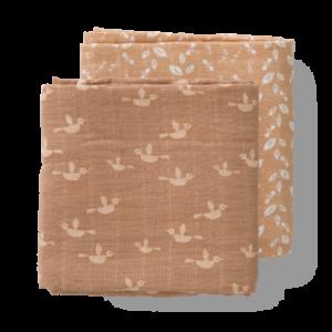Set păturici de muselină pentru înfășat bebe Fresk - Birds (120x120)