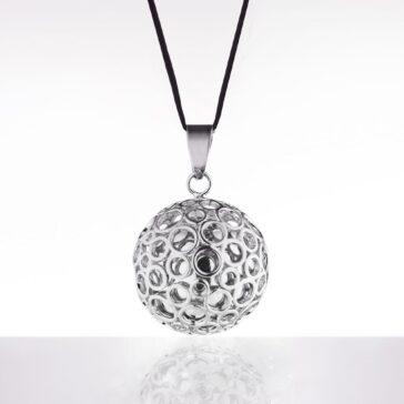 bola argintiu bule argintii snur negru 1817
